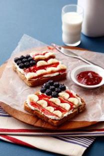 4th of july banana sandwich
