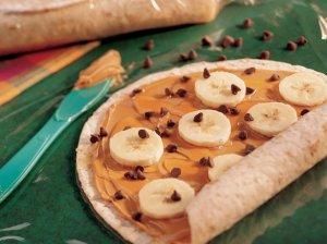 banana peanut butter wrap