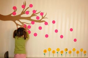 Sticky note mural